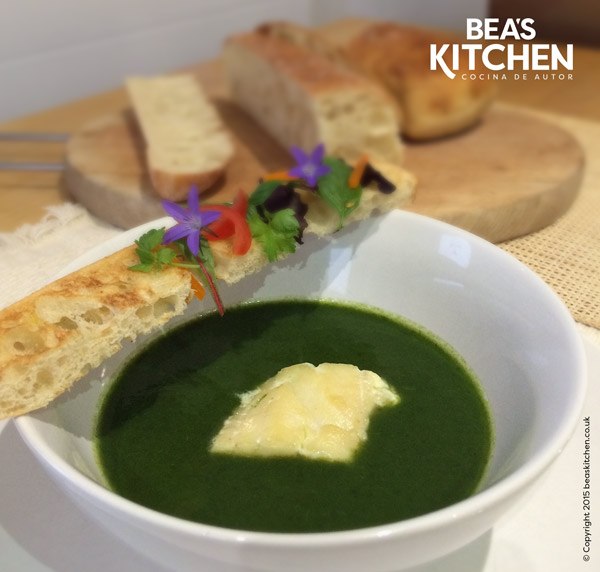 Spinach veloute with smoked haddock