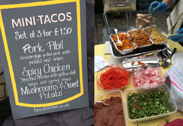 Taco stand - part of Highams Park Jumble Trail, April 2015