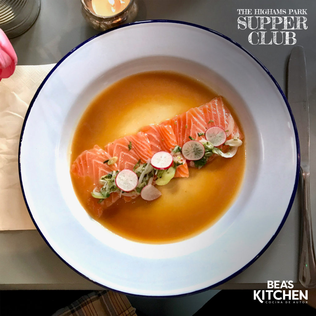 Salmon Tiradito - Higham Park Supper Club - Beas Kitchen